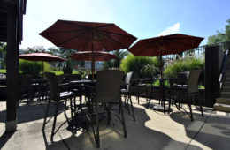 outdoor patio at coolidge place apartments
